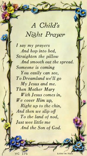 100-Pack - A Child'S Night Prayer Verse Card