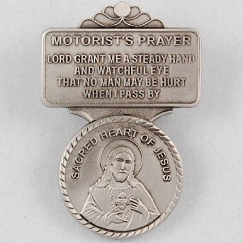 Sacred Heart Visor Clip Carded