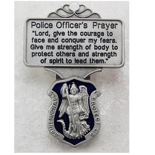 Police Blue Enamel Visor Clip