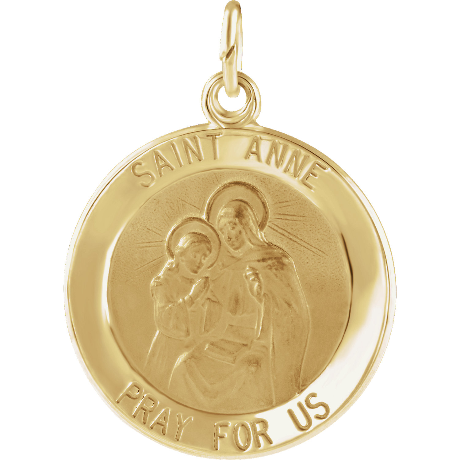14K Yellow Gold St.Anne Pendant