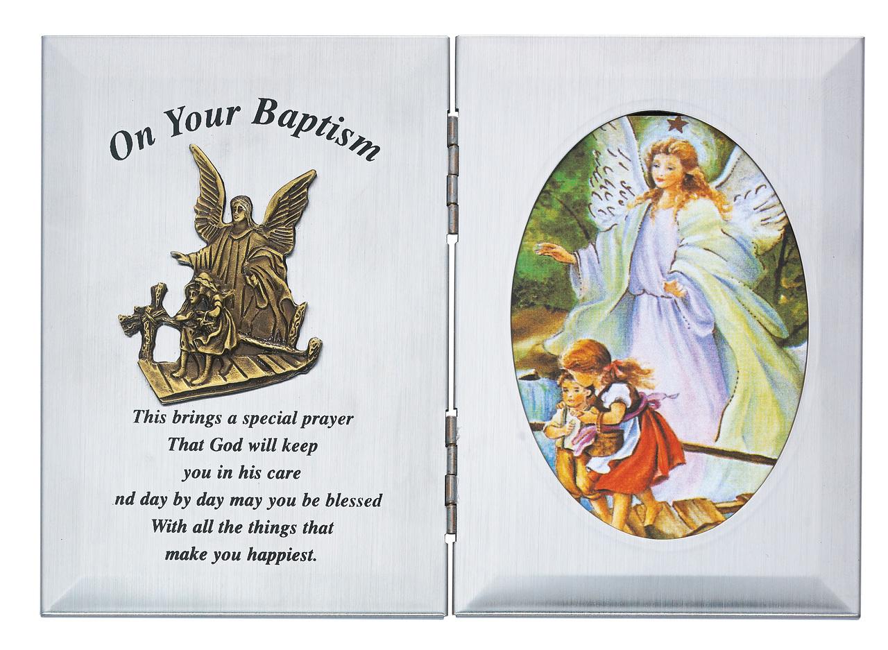 Silver Baptism Plaque