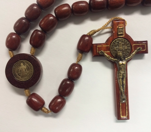 Wood St. Benedict Rosary