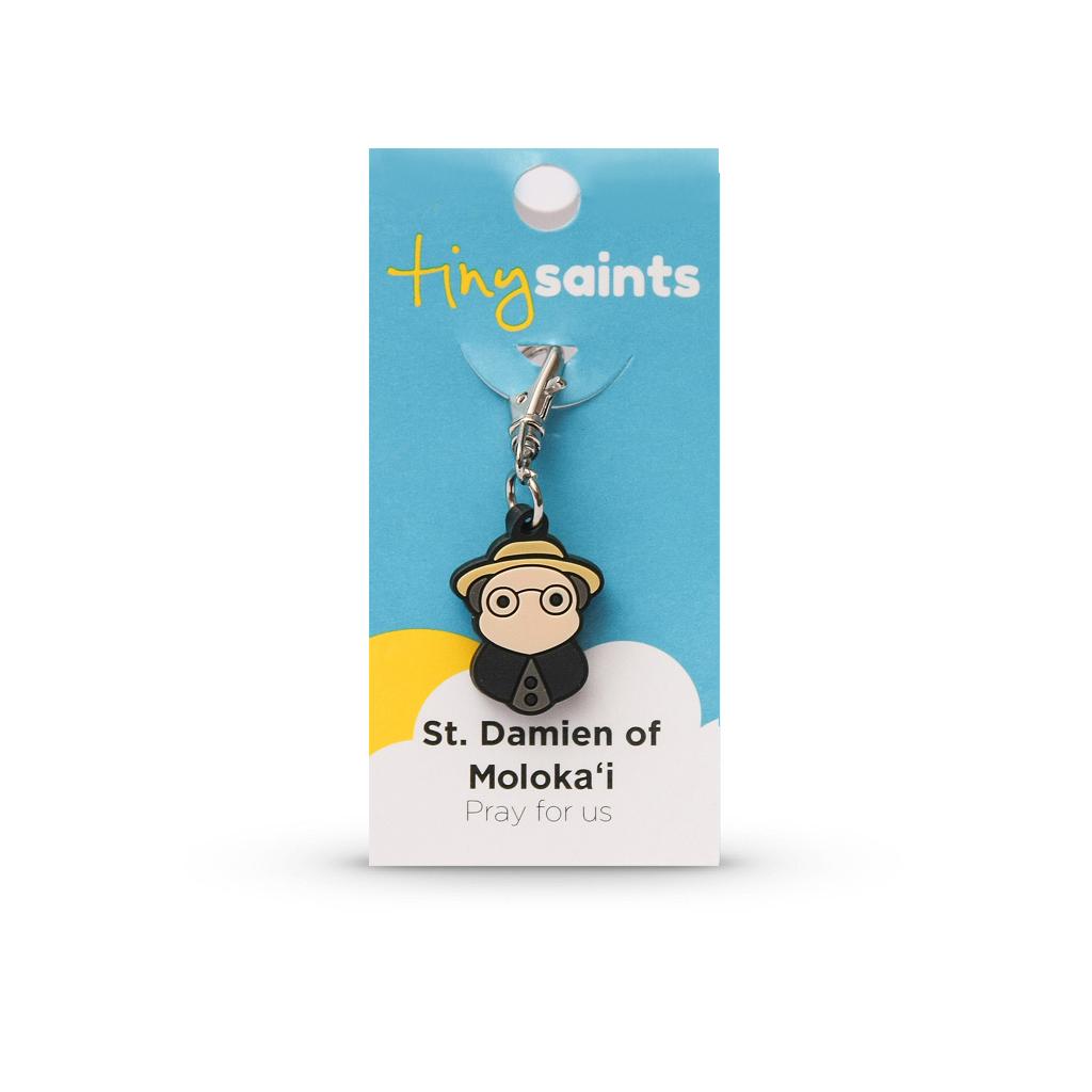 St. Damien of Moloka Tiny Saint Charm