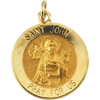 14K Yellow Gold St. John The Evangelist Pendant