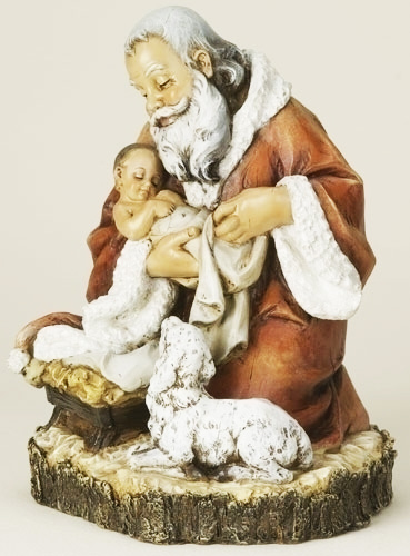 11.5-inch Kneeling Santa Fig