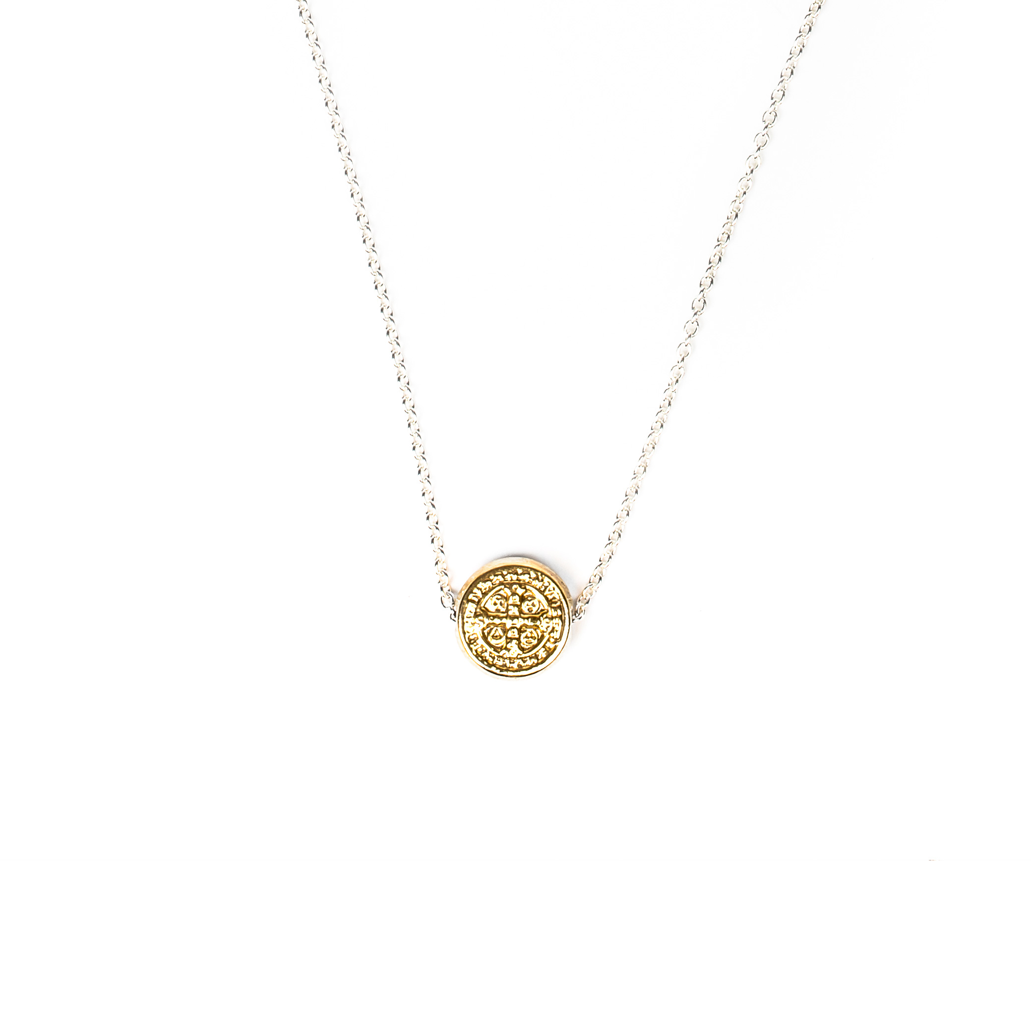 expertissim chain and baptism medal necklace cross gold