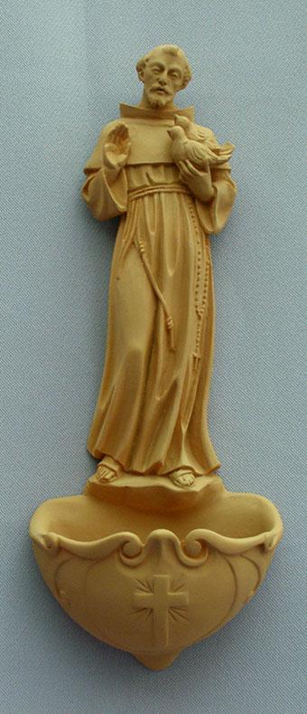 "St. Francis Font Terracotta 9"""