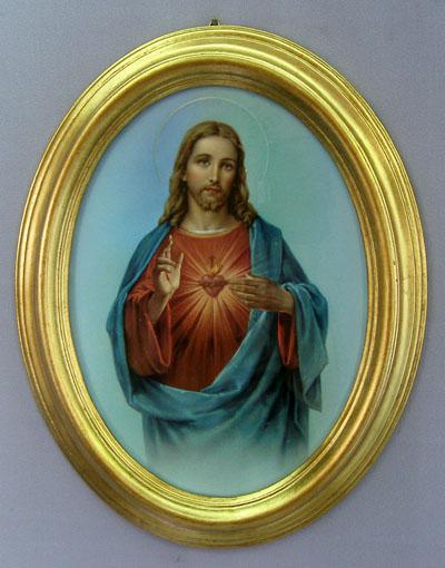 "Sacred Heart Of Jesus Plaque 9X11"""