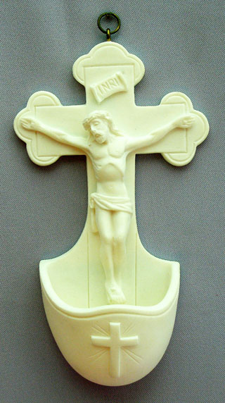 White Crucifixion Font