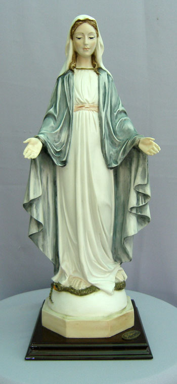 Lady Of Grace By Ado Santini Hand-Painted Alabaster 16.5""