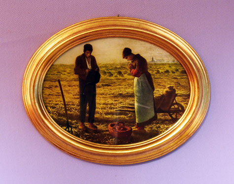 Angelus By Millet Plaque 11X9""