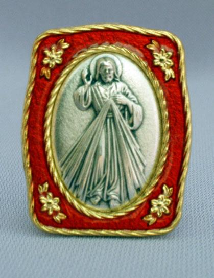 "Divine Mercy Medal Plaque 1.5X1.75"""