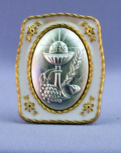 First Communion Medal Plaque 1.5X1.75""