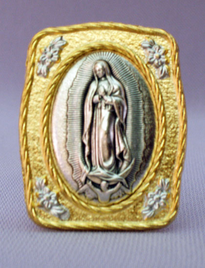 Our Lady Of Guadalupe Medal Plaque 1.5X1.75""