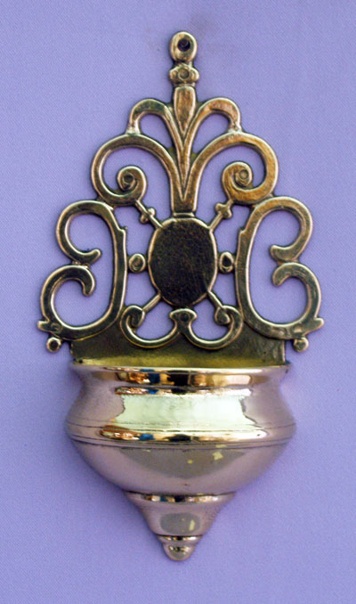 Holy Water Font Shiny Brass 7.75""