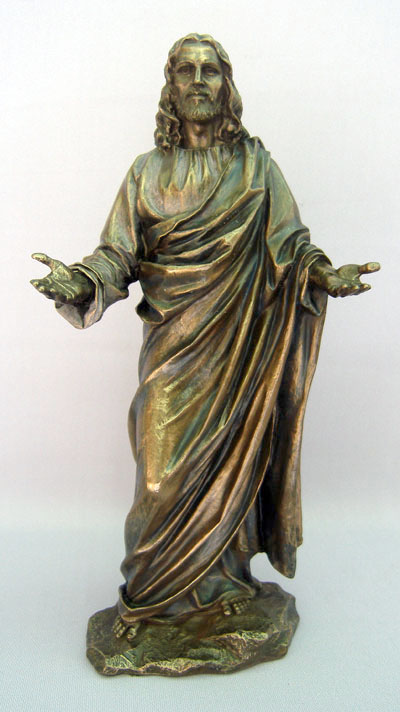 Welcoming Christ Cold-Cast Bronze 12""