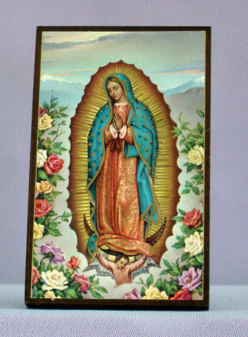 Our Lady Of Guadalupe Plaque 2.5X3.5""