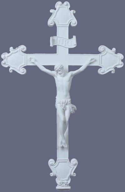"""Crucifix White 16.5X10.5"""""""