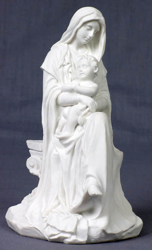 Madonna And Child White 6""