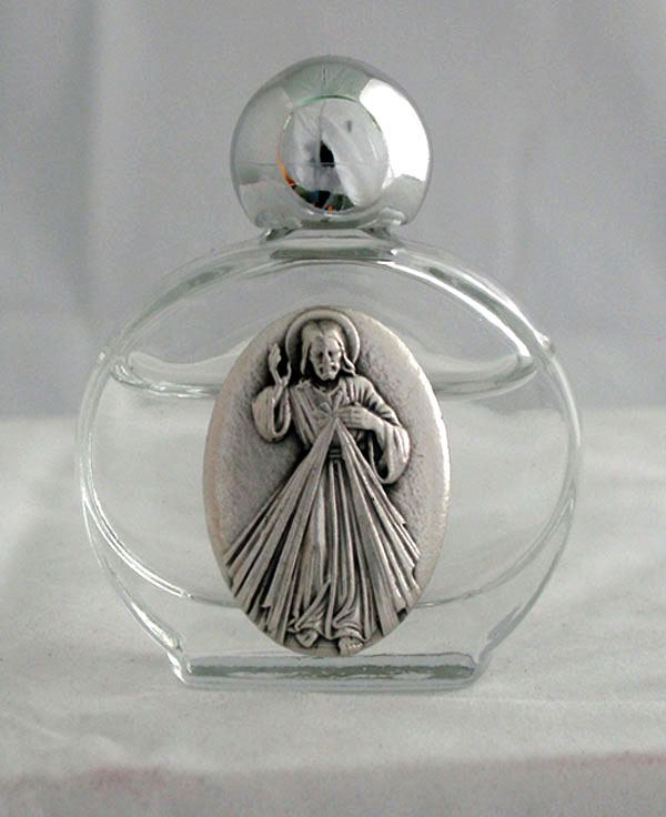 Divine Mercy Holy Water Bottle 1.75X 2.25""
