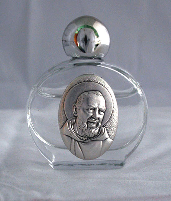 Padre Pio Holy Water Bottle 1.75X 2.25""