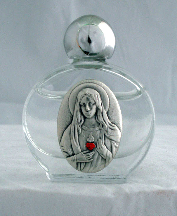 Immaculate Heart Of Mary Holy Water Bottle 1.75X 2.25""
