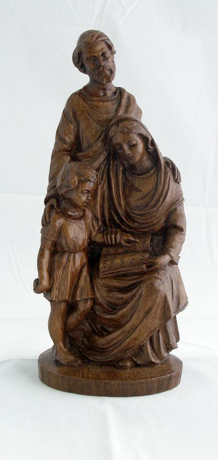 """Holy Family Wood-Tone Alabaster 8"""""""