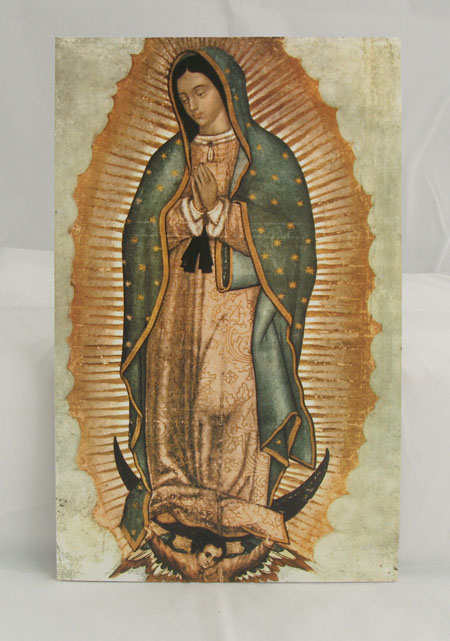 Our Lady Of Guadalupe Plaque 5X9""