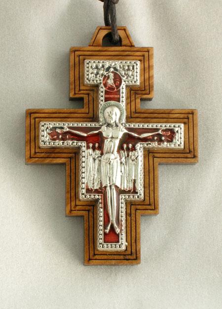 "San Damian Cross Necklace 32"""