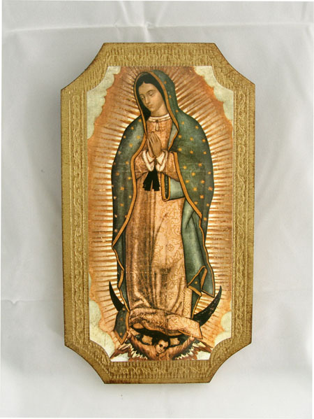 Our Lady Of Guadalupe Florentine Plaque 5X9""