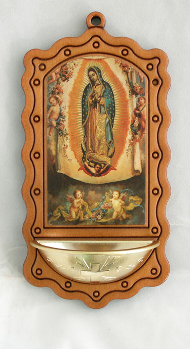 Our Lady Of Guadalupe Wood/Gold 3.5X7""