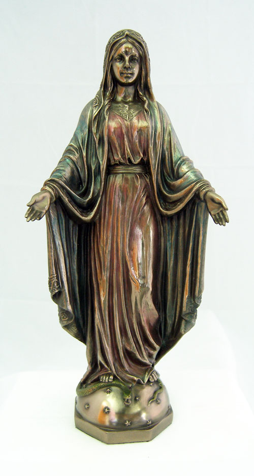 Lady Of Grace Cold-Cast Bronze Lightly Hand-Painted 10""