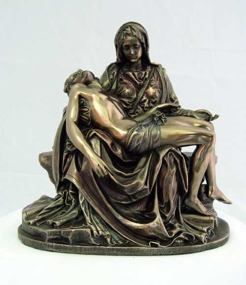 Pieta Cold-Cast Bronze Lightly Hand-Painted 6.25""