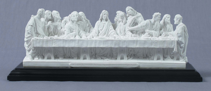 Last Supper White On A Black Base 14X4.5X6""
