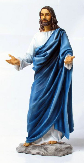 Welcoming Christ Hand-Painted Colors 12""