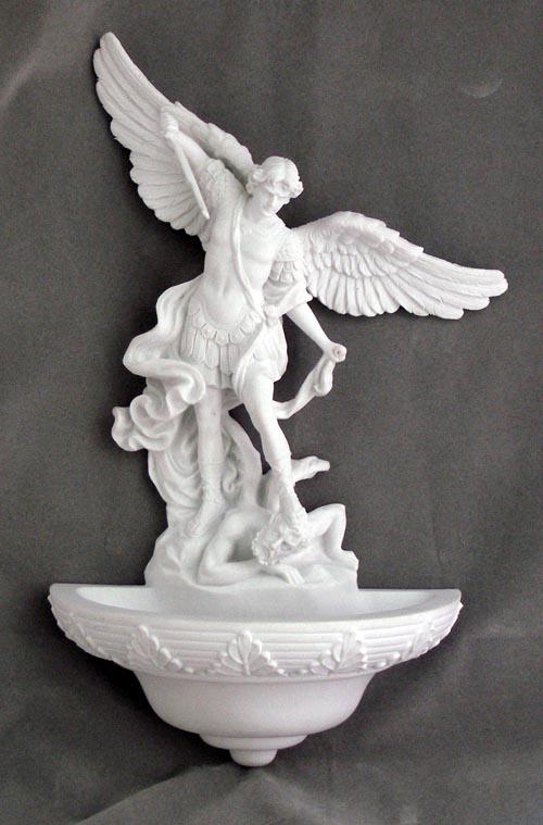 "St. Michael Font White 9"""