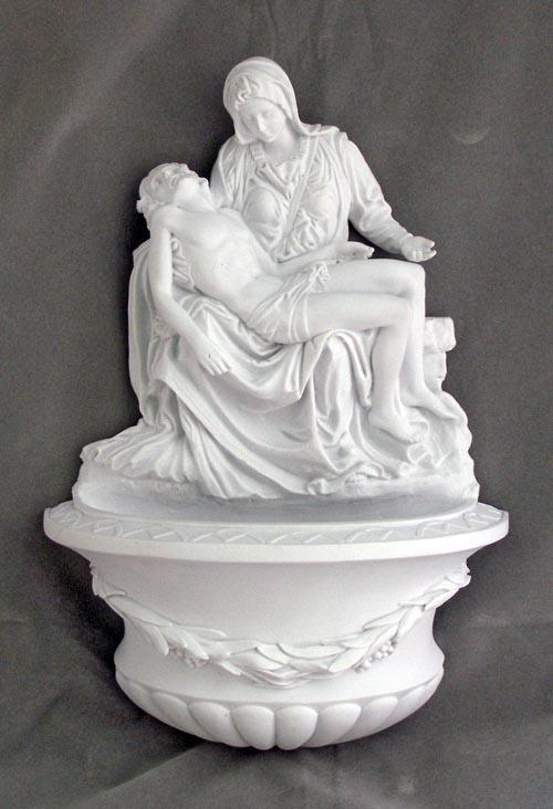 """Pieta Font White 10"""""""