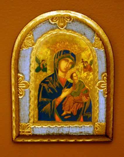 Our Lady Of Perpetual Help Florentine Plaque 4.5X6""
