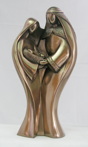 Genesis Modern Holy Family Cold-Cast Bronze 9.5""