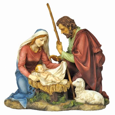 Nativity Hand-Painted Color 8.25""