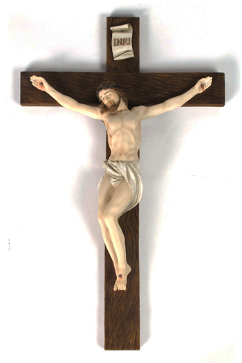 Crucifix Hand-Painted Colors 17""