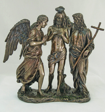 Baptism Of Christ Cold-Cast Bronze 10.75""