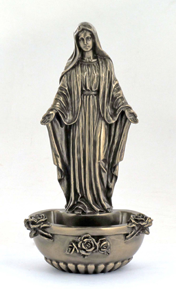 Lady Of Grace Font Cold-Cast Bronze 7.5""