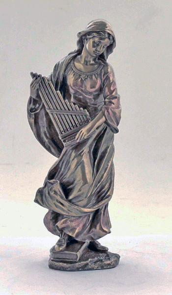 St. Cecilia Cold-Cast Bronze 8.5""