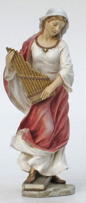 """St. Cecilia Hand-Painted Color 8.5"""""""