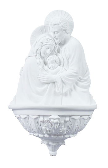 """Holy Family Font White 9"""""""