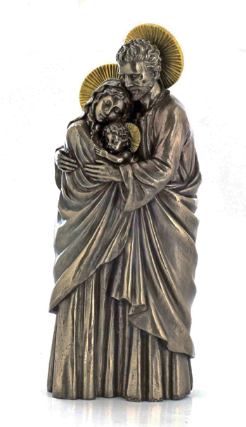 Holy Family Standing Cold-Cast Bronze 10""