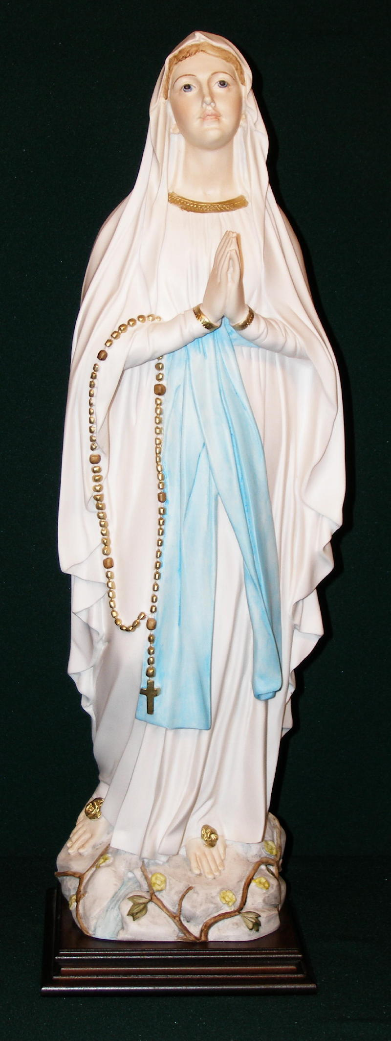 Our Lady Of Lourdes Hand-Painted Alabaster 24""