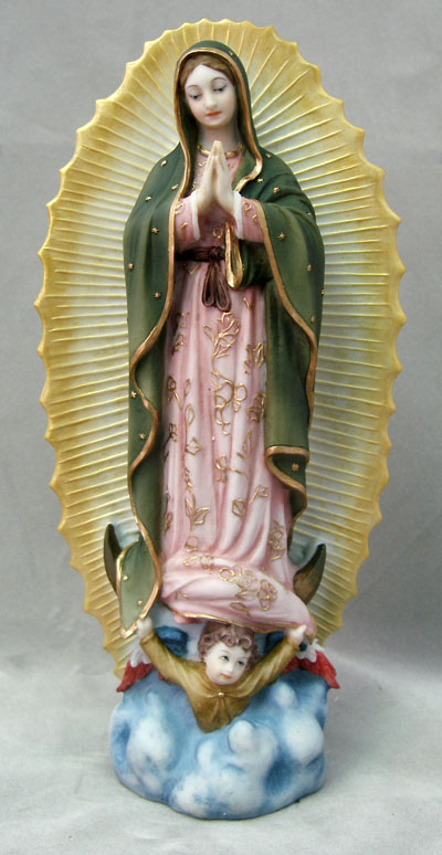 Our Lady Of Guadalupe Hand-Painted 9.5""