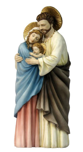 Holy Family Hand-Painted Standing 10""